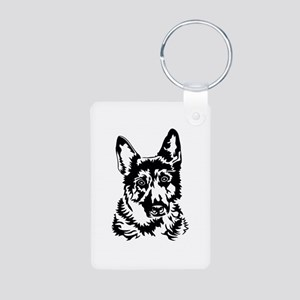 GERMAN SHEPHERD HEAD Aluminum Photo Keychain