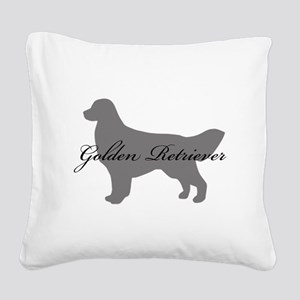 5-greysilhouette2 Square Canvas Pillow