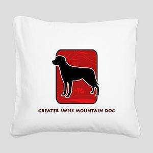26-redsilhouette Square Canvas Pillow