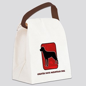 26-redsilhouette Canvas Lunch Bag