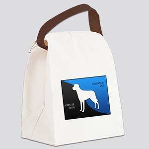 2-blueblack Canvas Lunch Bag
