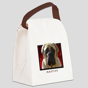 10-redblock Canvas Lunch Bag