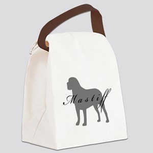 3-greysilhouette2 Canvas Lunch Bag