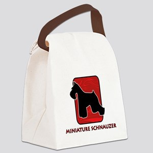 5-redsilhouette Canvas Lunch Bag