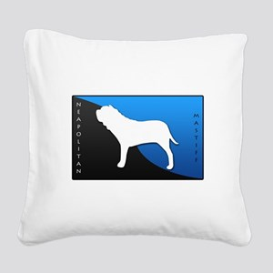blueblack Square Canvas Pillow