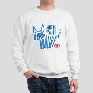 Mutts for Mitt Blue by VampireDog Sweatshirt