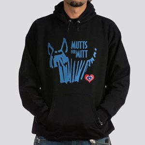 Mutts for Mitt Blue by VampireDog Hoodie (dark)