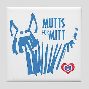 Mutts for Mitt Blue by VampireDog Tile Coaster