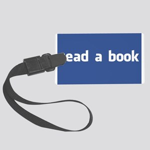 read a book Large Luggage Tag