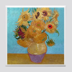 Van Gogh - Sunflowers Tile Coaster