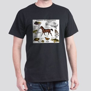 Vermont State Animals Dark T-Shirt
