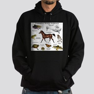 Vermont State Animals Hoodie (dark)