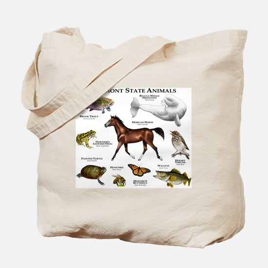 Vermont State Animals Tote Bag