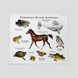 Vermont State Animals Throw Blanket