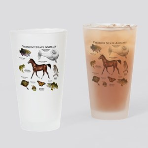 Vermont State Animals Drinking Glass