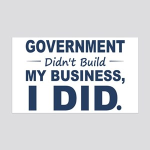 Government Didnt Build It 35x21 Wall Decal