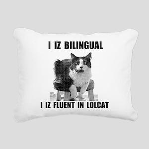 lolcat_bk Rectangular Canvas Pillow