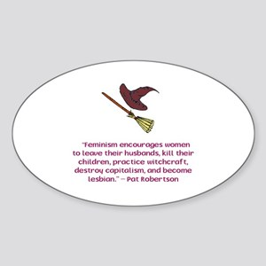 Feminism Oval Sticker