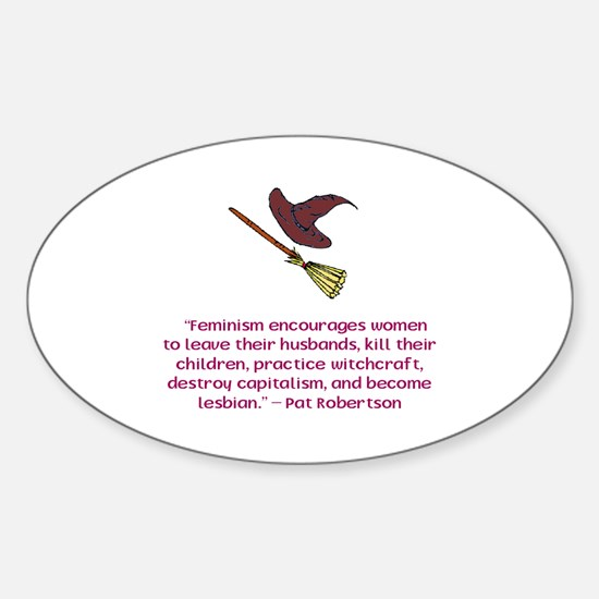 Feminism Oval Decal