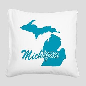 3-michigan Square Canvas Pillow