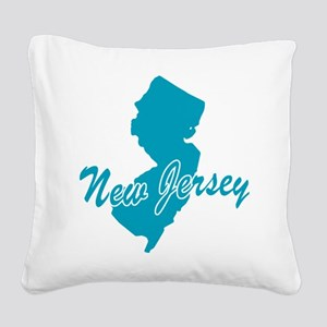3-new-jersey Square Canvas Pillow