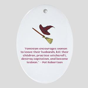 Feminism Oval Ornament