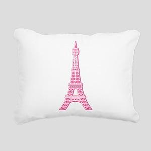 EIFFEL-TOWER-PINK Rectangular Canvas Pillow