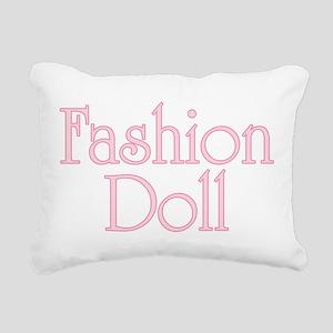 Fashion Doll Rectangular Canvas Pillow