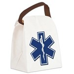 EMS EMT Rescue Logo Canvas Lunch Bag
