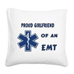 proud emt girlfriend Square Canvas Pillow