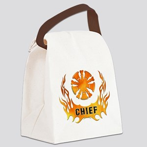 Fire Chiefs Flame Tattoo Canvas Lunch Bag