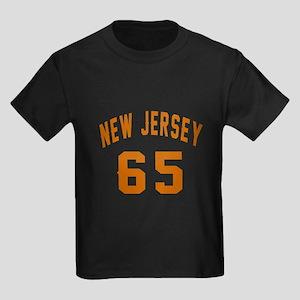 New Jersey 65 Birthday Designs Kids Dark T-Shirt