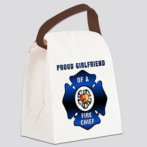 Fire Chief Proud Girlfriend Canvas Lunch Bag