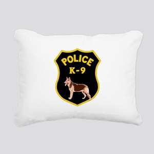 K9 Police Officers Rectangular Canvas Pillow