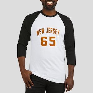 New Jersey 65 Birthday Designs Baseball Tee