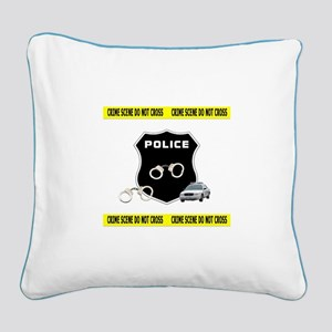 Police Crime Scene Square Canvas Pillow