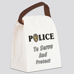 police serve and protect Canvas Lunch Bag
