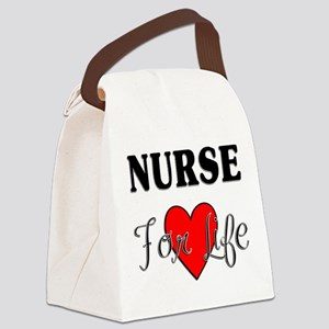 Nurse For Life Canvas Lunch Bag