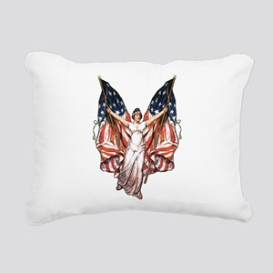 vintage-flag-bearer Rectangular Canvas Pillow