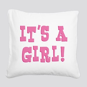 itsagirl Square Canvas Pillow