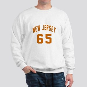 New Jersey 65 Birthday Designs Sweatshirt
