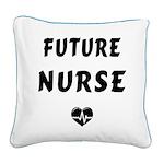 Future Nurse Square Canvas Pillow