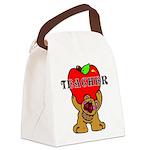 Teachers Apple Bear Canvas Lunch Bag