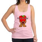 Teachers Apple Bear Racerback Tank Top