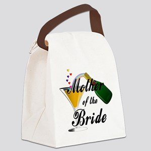 mother of bride black Canvas Lunch Bag