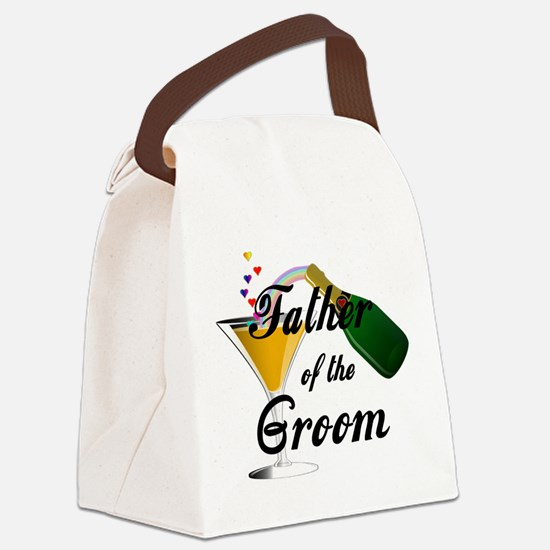 Wedding Toast Father of the Groom Canvas Lunch Bag