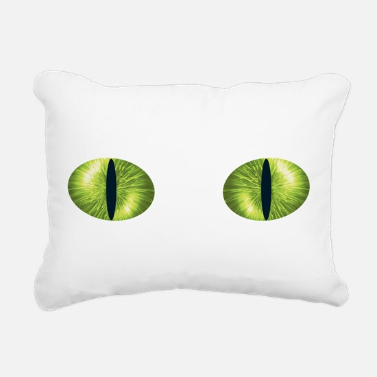 Cat Eyes Rectangular Canvas Pillow
