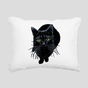 black-kitty Rectangular Canvas Pillow