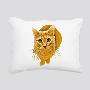 orange-kitty Rectangular Canvas Pillow