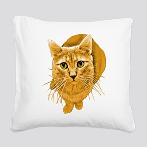 orange-kitty Square Canvas Pillow